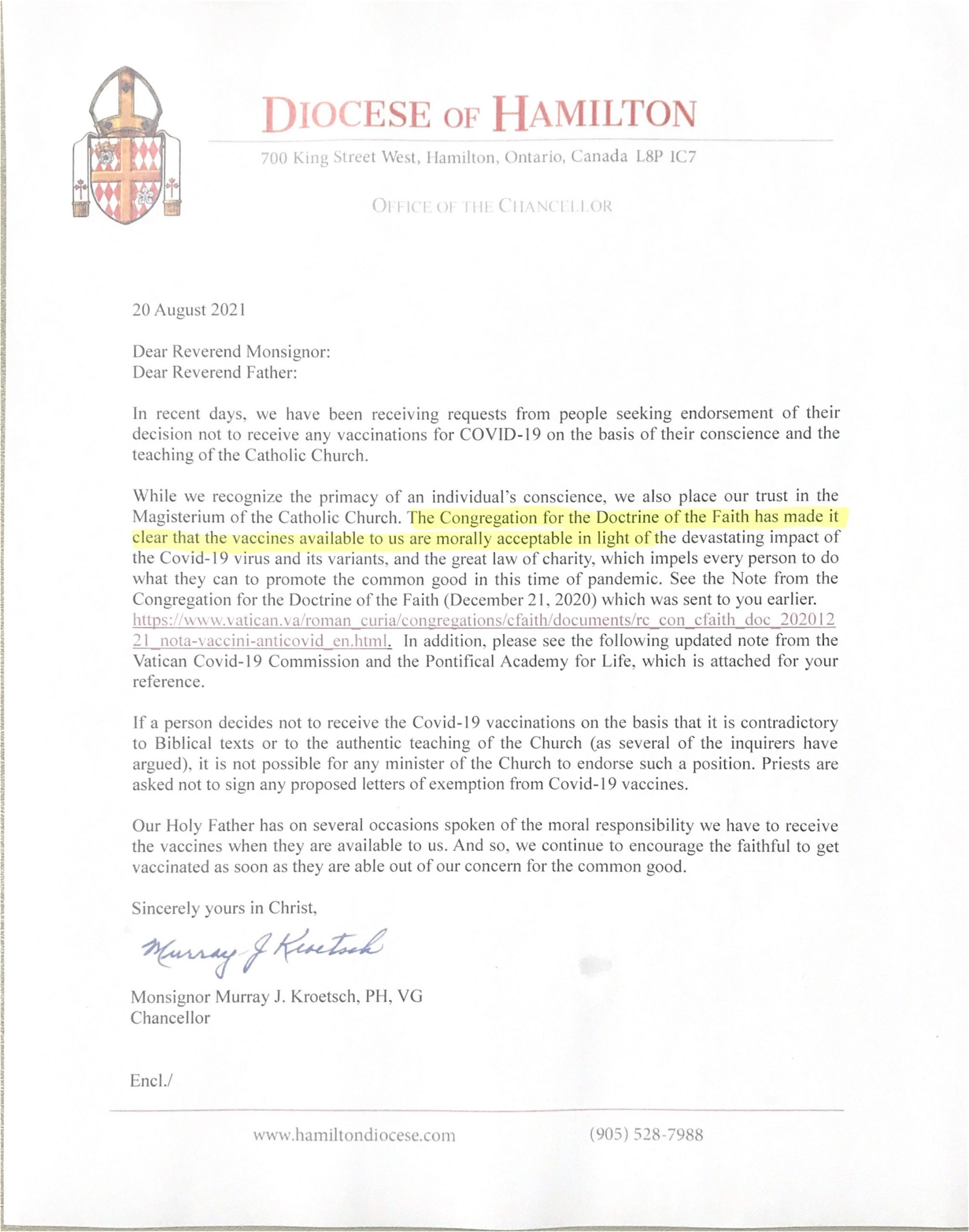 diocese letter-vaccination